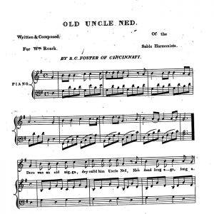 Old Uncle Ned (sheet music)