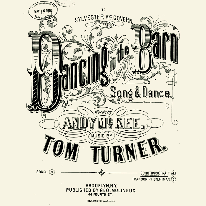 Dancing in the Barn (sheet music)