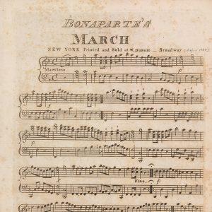 Bonaparte's March (sheet music)
