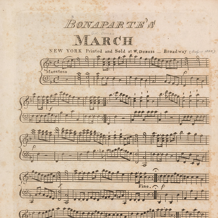 Bonaparte's March (sheet music)