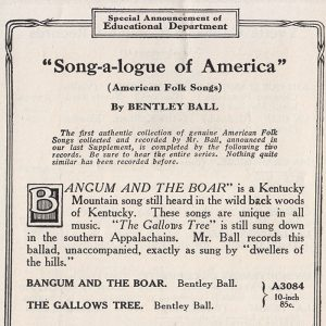 Bentley Ball record ad