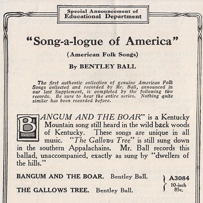 Bentley Ball record ad