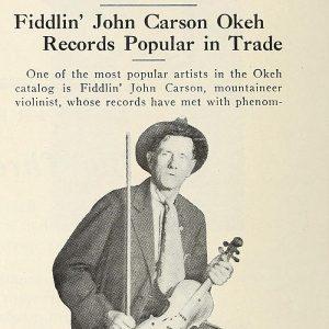 Fiddlin John Carson Okeh Ad