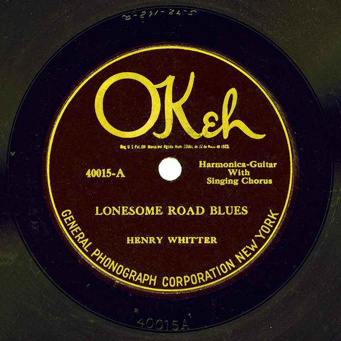 Lonesome Road Blues by Henry Whitter (label)