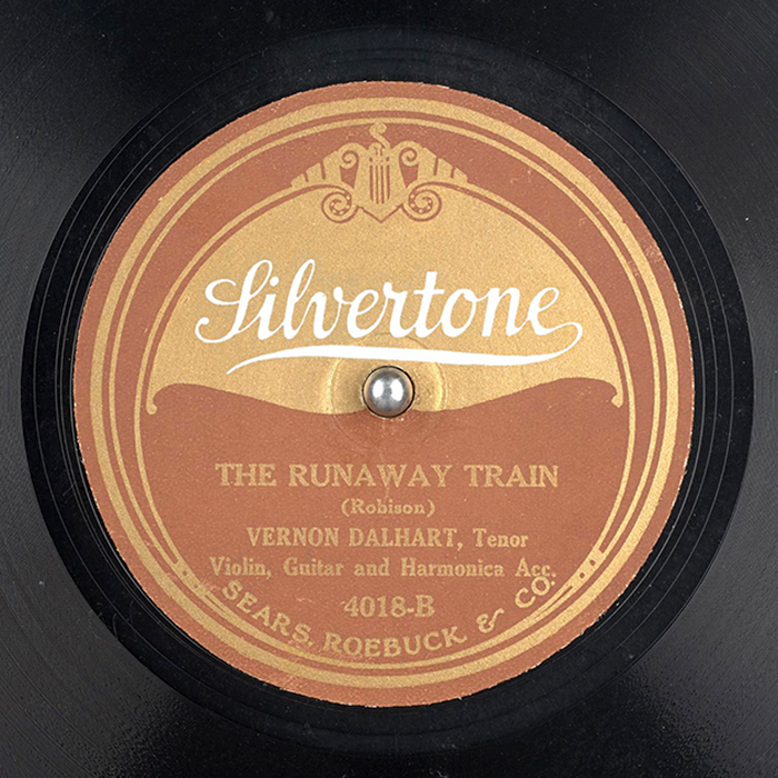 The Runaway Train by Vernon Dalhart (label)